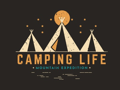 Camping Life - A part of the adventure illustration graphicdesigner logodesigner branding brand identity brand designer graphic designer graphic design logo designer logodesign london usa flag new york campers nature photography nature logo nature art