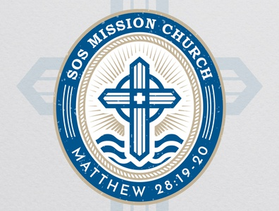 SOS Mission Church - Proposal Church Logo Design graphicdesigner logodesigner vector brand identity design branding graphic design logo church marketing church branding church design church logo church