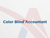 Logo proposals for Color Blind Accountant logodesigner graphicdesigner brand identity design branding graphic design logo bank logo bank accountant accounting financial finance logo finance