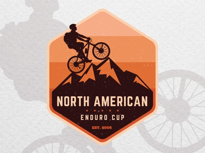 Vintage badge logo design for a mountain bike club logo designer graphicdesigner logodesigner graphic design logo bike logo mountain logo mountain biking mountain bike mountains mountain bike ride bikers biker bikes bike
