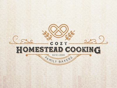 Cozy Homestead Cooking. logo designer graphicdesigner branding brand identity logodesigner graphic design cake logo cake shop cake bakery packaging bakery logo bakerylogo bakery baker