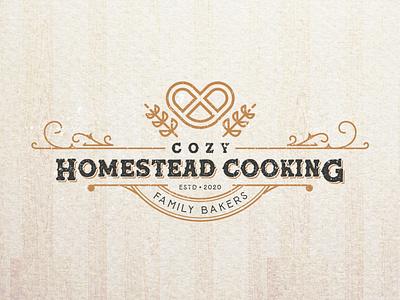 Cozy Homestead Cooking. logo designer graphicdesigner branding brand identity logodesigner graphic design cake logo cake shop cake bakery packaging bakery logo bakerylogo bakery baker