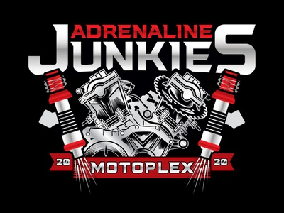 Adrenaline Junkies Motoplex Final Logo motorcycle club motorcycle logo motorcycle motorbike design vector brand identity branddesigner logodesigner logo designer branding graphicdesigner illustration graphic design
