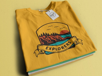 Explorers. Adventure/Outdoors Illustration branding graphic design adventure logo adventures adventure tees design teesdesign teespring tee teeshirt tshirtslovers tshirtdesign tshirtstore tshirt art tshirtshop tshirts tshirt design tshirt