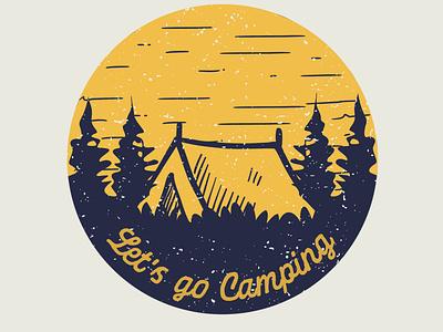 Lets go camping graphic design hiking logotype logocreator logomaker logodesignersclub logodesigner outdoor badge outdoor logo outdoor outdoors adventure logo adventurer adventures adventure campers camper camping logo camping