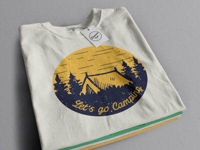 Lets go camping illustration art illustrations outdoor badge outdoors outdoor logo outdoor adventure adventure time adventurer adventures tshirt design tshirtdesign tshirt art tshirt teesdesign teespring teeshirt tees camping logo camping
