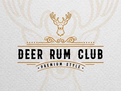 Vintage logotype concept for Rum drink brewery. adventure brand identity branddesigner logodesigner logo designer graphic design graphicdesigner branding brewery branding brewery logo brewery brewer rum