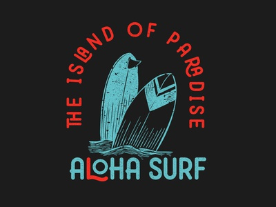 Aloha Surf. A vintage illustration for surfers graphic design graphicdesigner logodesigner outdoor logo outdoors outdoor adventure logo adventure time adventure hawaii hawaiian shirt hawai aloha surfers surfer surfing surf logo surf
