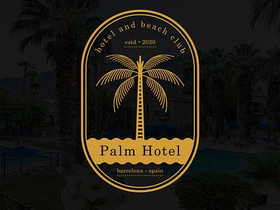 "Wordmark logo design for ""Palm Hotel brand identity logo graphic design branding graphicdesigner logomaker logoideas logodesigner adventurelogo adventure palmlogo palmtree palm hotelmarketing hotelbrand hotellogo hotel"