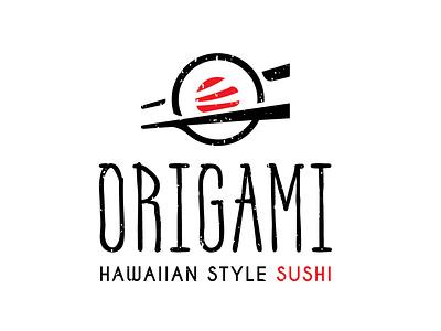 Origami - Hawaiian style sushi! branddesigner graphicdesign graphicdesigner logo logoideas logomaker logodesigner hotelbrands hotels hotelmarketing restauran fastfood foodlogo food sushijapan sushilogo sushi