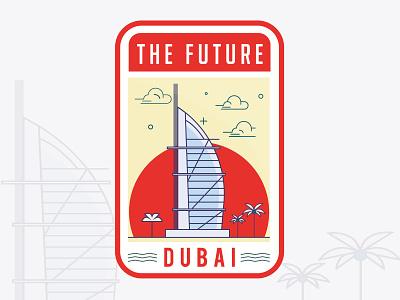 Badge illustration is for the amazing city of Dubai. outdoors adventure cubailogo citylogo citystamp brandingagency brandingdesigner branddesigner graphicdesigner logoideas logomaker logodesigner badgelogo badge stamp dubaicity dubai
