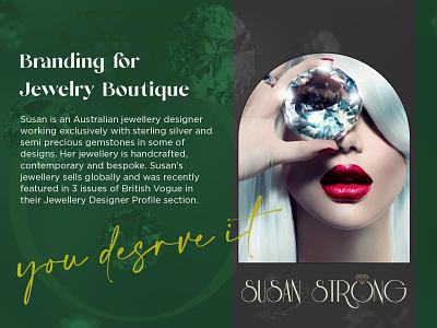 Susan Strong Identity and Artistic Direction giftbox monogram jewelrylogo jewellery jewelry logomaker logodesigner branddesigner graphicdesigner designer businesscard brandidentity branding identity corporateidentity