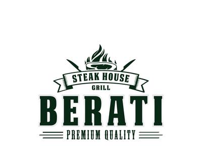 Berati Steak and Grill House Logo Design