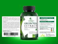 Green Tea Extract label design