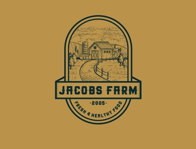 Vintage logo concept design for Farm company