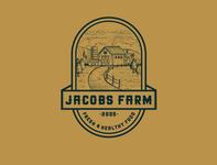 Vintage logo concept design for Farm company