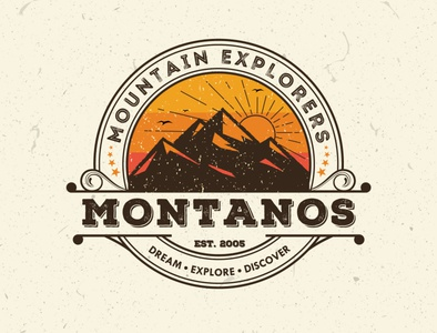 Logo concept design for mountaineers