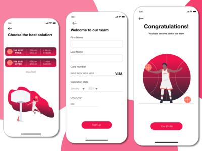 App For Register in Basketball Club