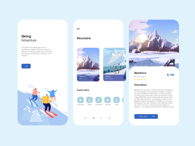 Skiing Adventure App