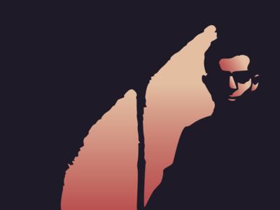 Man In Dark dark man black shadow glasses hue silhouette illustration