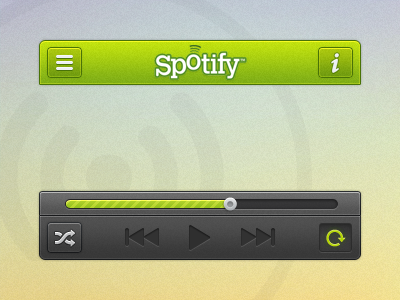 Spotify ui spotify rdio buttons ios music player