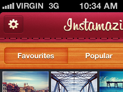 Instamazin' Preview ui mobile ios stitch wood instagram iphone