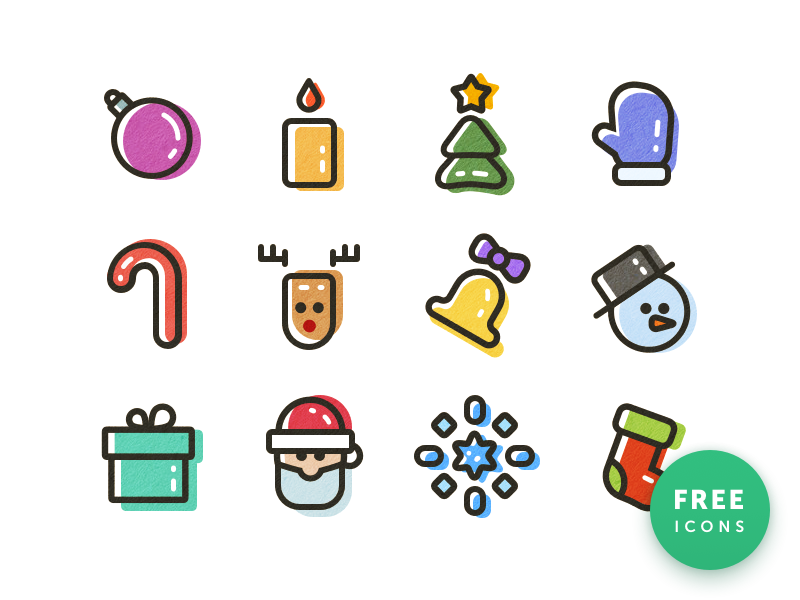 New year color icons