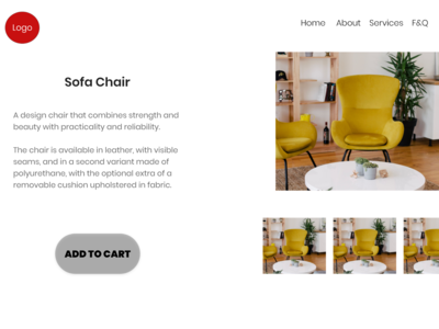 UI Design of an e-commerce website