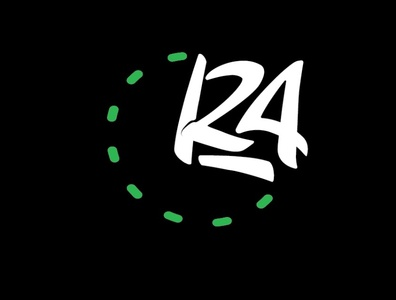 Time RA24 Radio24 logos logo music bull withe green hours radio lettering 24 r clock time