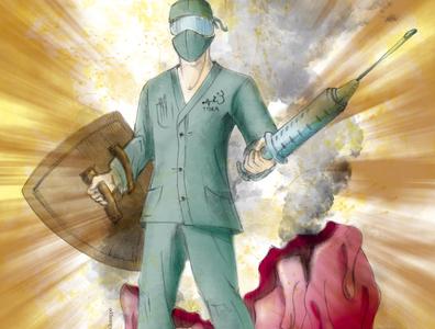 The Real Super Heroes illustration design therapy doctors nurses covid19 coronavirus superhero