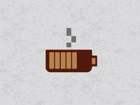 coffee charge logo concept logos illustration design concept logo coffecup cup battery charge coffee
