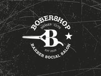 Barber social salon star scissor shaves haircut salon barbers barber logos logo
