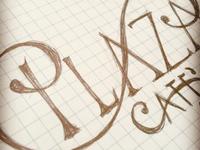 Plaza Café logos logo lettering type café plaza