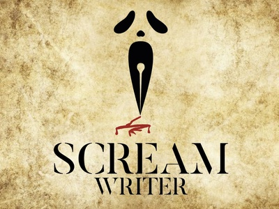 Scream Writer onsale vector logos logo word gost pencil afraid blood writer scream
