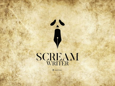 Scream Writer V2 book horror writers writer pencil afraid gost scream word branding vector illustration logos logo