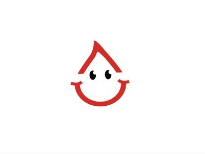 Happy Drop blood design illustration smile logos logo brand icon design funny fun happy drop