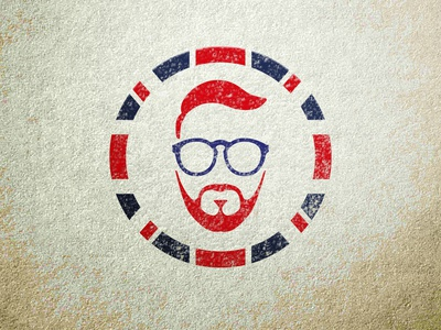 Joe Sanders Logo Concept faceapp faceicon branding vector design illustration logos logo red beard eye glass teacher british