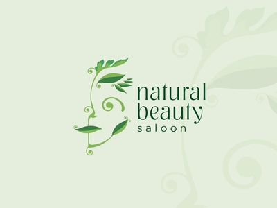 Natural Beauty Saloon branding vector design logos logo illustration bio naturalbeauty natural beauty fashion face