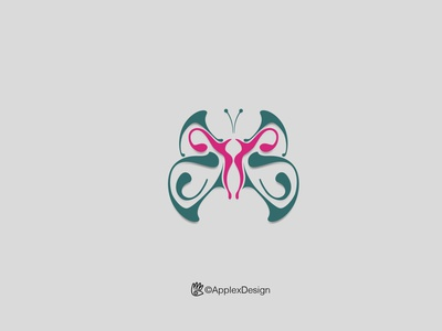 Endometriosi ::: Logo concept design animal branding care butterfly logo butterfly endometriosi illustration logos logo