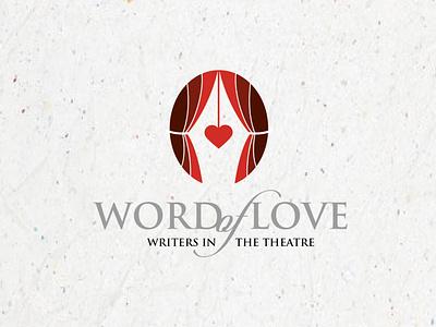Word of Love, Writers in the Theatre Association branding vector design illustration logos logo heart love nib pen theatre writer