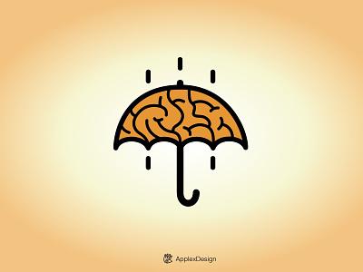 Open your mind creativity face umbrella ideas brain mind