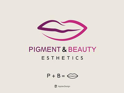 Pigment & Beauty Esthetics branding vector illustration logos logo design fashion esthetic beauty pigment