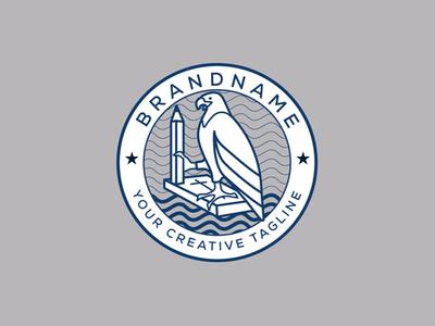 The School Of Christian Eagles Logo art spirit soul animal cross christian school pencil bible book eagle