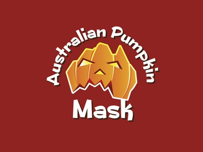 Australian Pumpkin Mask logos logo vegetable funny ghost halloween pumpkin mask australian australia