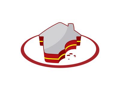 Home Sweet Home logo concept logo food sugar cake family house real estate sweet home