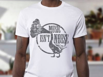 Music isn't noise duck design wip project mockup tshirt noise music
