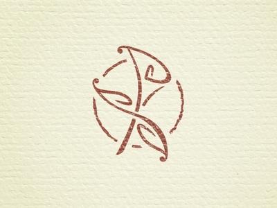 PS Flower wedding logo lettering letter s p plants flower calla