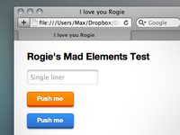 Rogie's Mad Elements in pure CSS