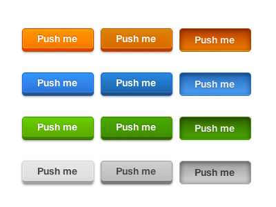 Mad Elements in pure CSS (2) css buttons madelements rogie blue green grey orange css3