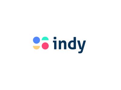 Indy typography concept vector icon flat minimalist minimal logo graphic deisgn graphic design branding